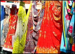 I love all the colorful saris in India, this is taken in Agra. | by LouiseHB