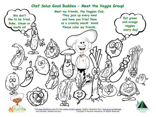 Fresh Fruit and Vegetables Farm to Table Coloring and Activity