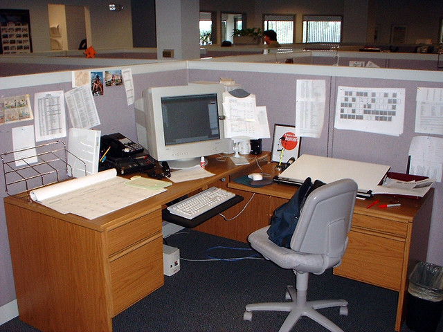 White Desk Office