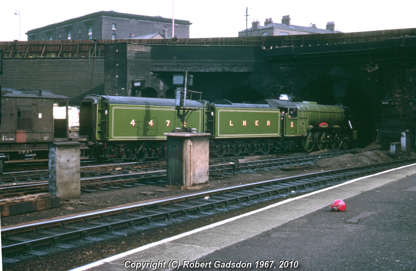 1967 4472 Leaving Gasworks Tunnel A3 Pacific 4472