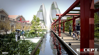 Food Gardens, Channels, Vertical Farms - Shanghai Sustainable Masterplan | by Except Integrated Sustainability