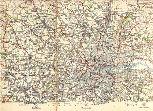 London area road map - Michelin map, c1925 | by mikeyashworth