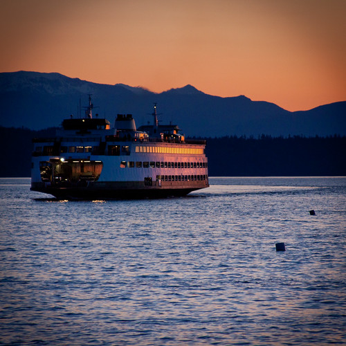 Sunset and ferry | by Dave Sizer