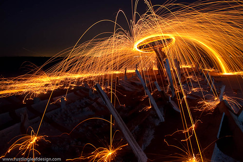 "Fire, Great Salt Lake, Utah | by Scott Stringham ""Rustling Leaf Design"""
