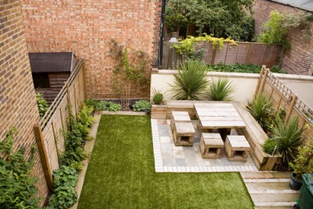 The 39 low maintenance garden 39 garden by earth designs www for New build garden designs
