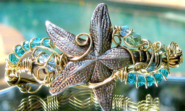 Morning star fish wire wrapped bracelet the starfish is for Morning star fishing