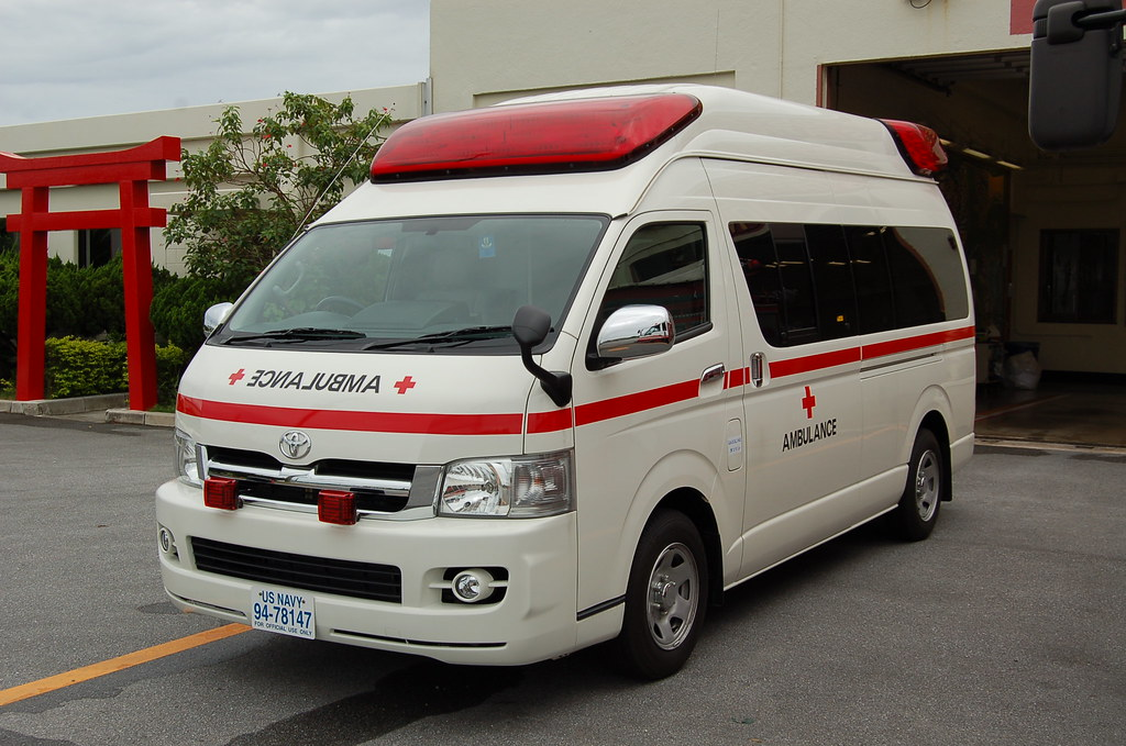 Toyota Hiace Ambulance Usmc Camp Foster Okinawa Japan