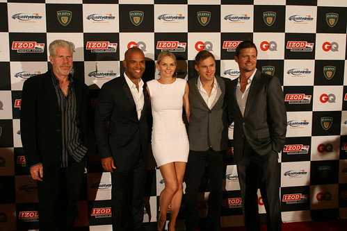Ron Perlman, Jen Morrison and the some of the Hurt Locker Cast | by IndyCar Series