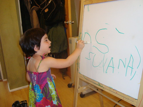 Suyana learns how to write her own name! | by Paula and Eric
