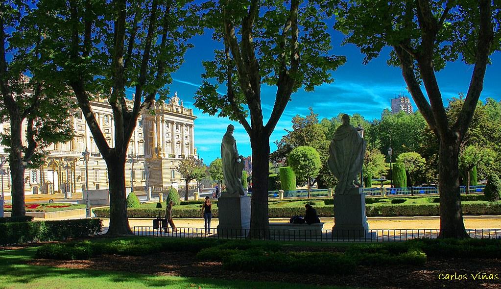 Plaza de oriente desde jardines de lepanto madrid flickr for Jardines de plaza