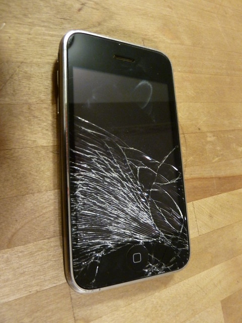 Shattered Iphone Screen Temporary Fix