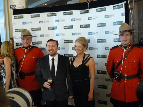 Ricky Gervais & girl friend Jane Fallon with RCMP officiers | by k-ideas