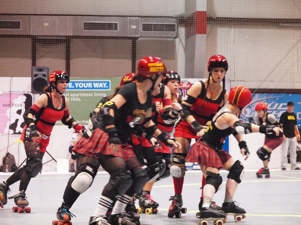 Roller skating houston -  Houston Texas At Kicks Indoor Soccer Roller Derby Bout June 19 2010 Hell Marys Vs Psych