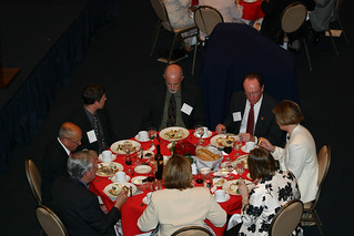 Attendees enjoy dinner at  Leadership Dinner | by California State University Channel Islands
