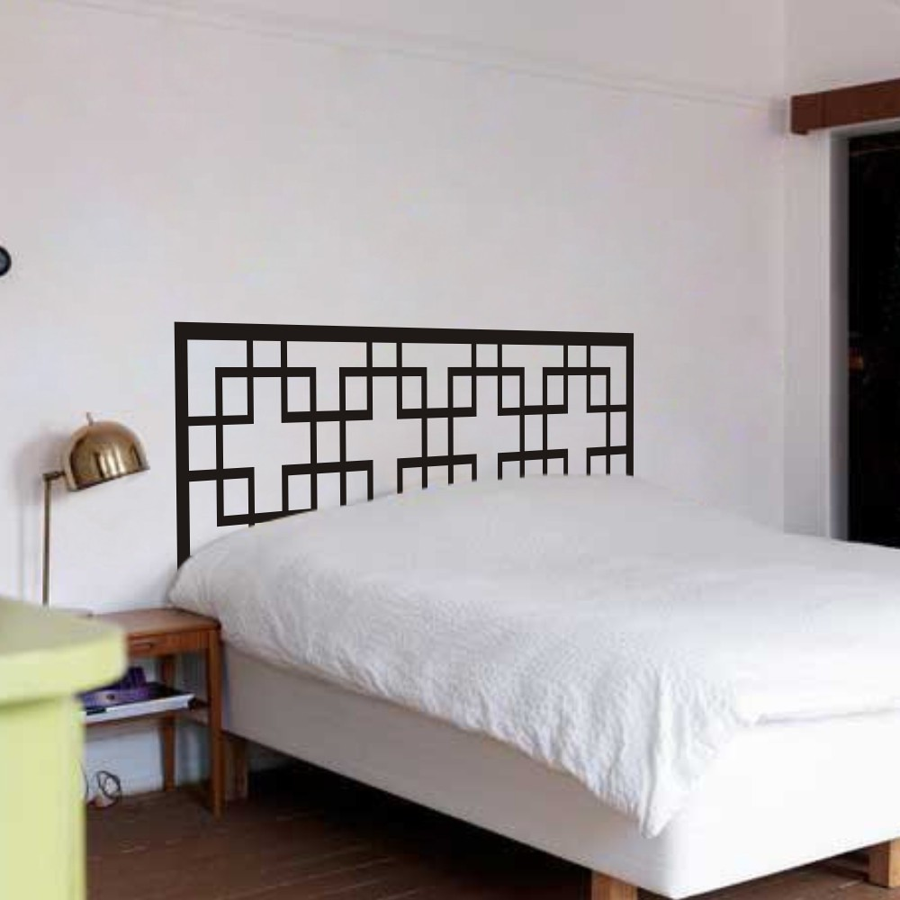 Details about Dorm Headboard Wall Decal Master Couple Bedroom Vinyl Art  Removable Decor Idea