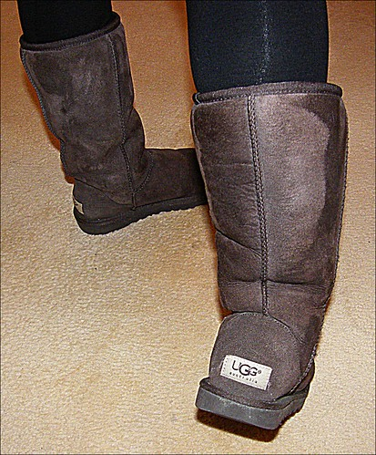 Brown Uggs With Shoe Strings For Women