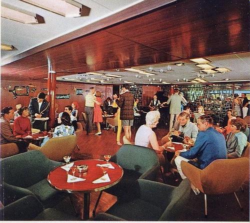 S S Michelangelo C Mid 1960s First Class Veranda Bar