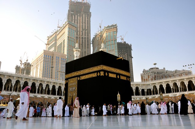 the kaaba on the early hours after the sunrise i took this flickr