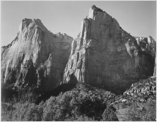 """Court of the Patriarchs, Zion National Park,"" Utah 