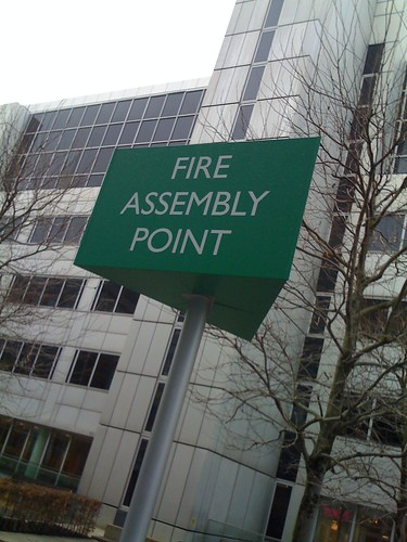 sexiest 39 fire assembly point 39 sign ever alexander. Black Bedroom Furniture Sets. Home Design Ideas