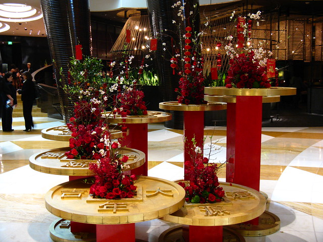 Chinese new year decorations aria resort and casino las for When does las vegas decorate for christmas