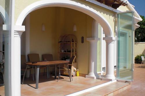 Cerramientos con cortinas de cristal cerramiento de la for Cristaleria benissa