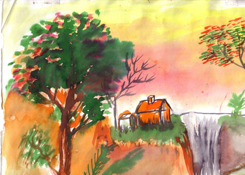Latest Water Colour Drawing 4 Suresh Flickr Colour Drawing