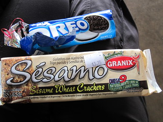 Oreos and Sesame Crackers | by veganbackpacker