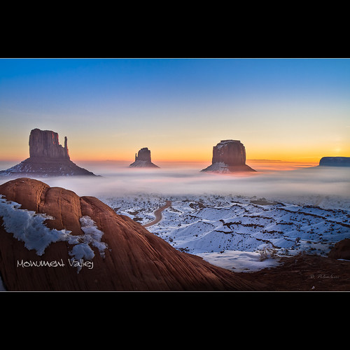 Sunrise in Monument Valley - The Mittens - Arizona | by Dominique Palombieri