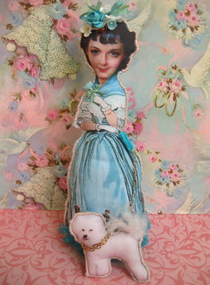 Romantic Era Doll with Bichon Frise | by HollyLovesArt