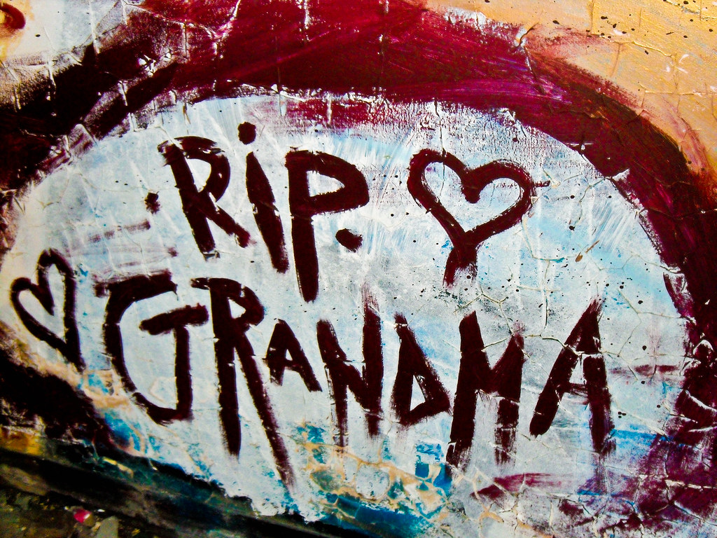 the sad news about the death of my grandmother