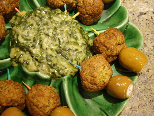 Falafel Appetizers and Kremed Spinach Dip | by Vegan Feast Catering