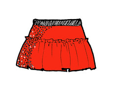 Red Team Sparkle Running Skirt | by Team Sparkle