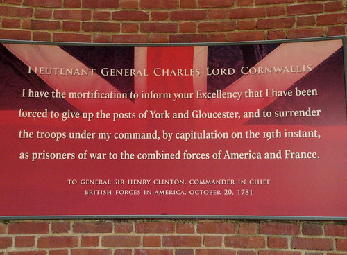 Cornwallis quote about Yorktown surrender, Surrender Field, Yorktown | by lreed76