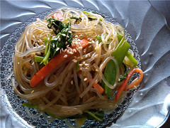 Sally's japchae (stir-fried glass noodles with vegetables and meat) | by maangchi