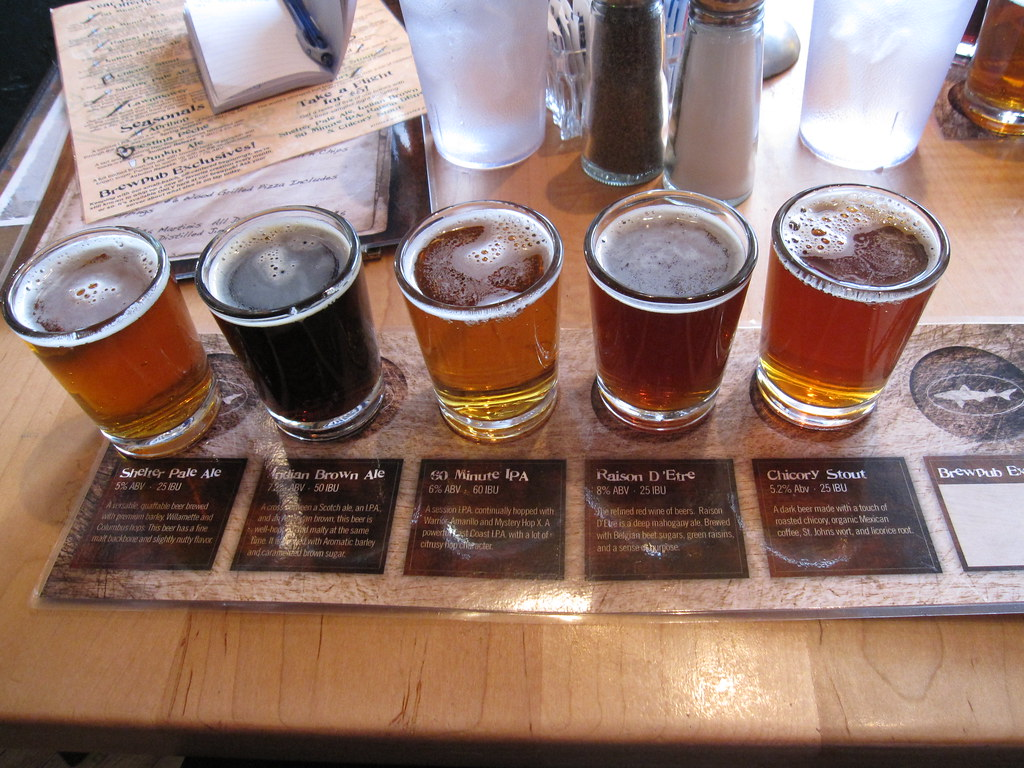 Image result for dogfish head beer flight bernt rostad