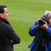 Roberto Martinez is snapped by a photographer, Wigan Athletic vs Hull City, 3 May 2010