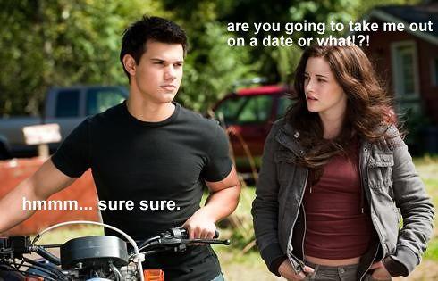 Kristen Stewart And Taylor Lautner Kissing In Real Life Twilight joke. | Yuck....