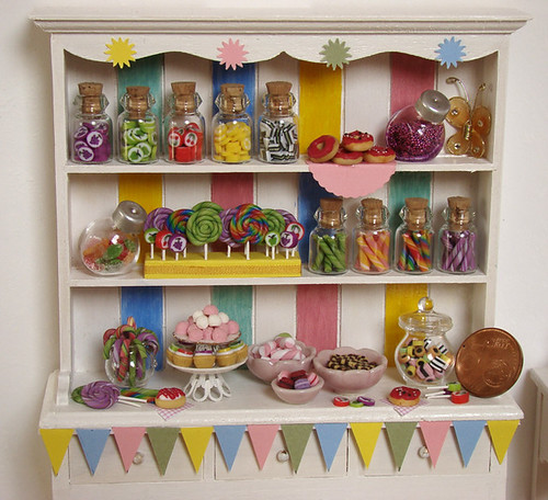 miniature food dollhouse candy cabinet 2 apr s une sema flickr. Black Bedroom Furniture Sets. Home Design Ideas