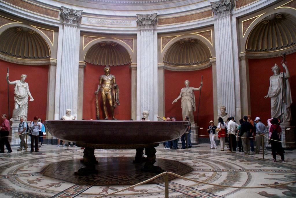 vatikanische museen  museo pio clementino  sala rotonda  p