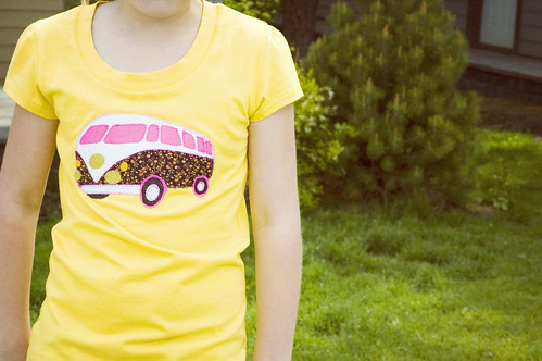 VW Bus Applique Tee | by shaletann