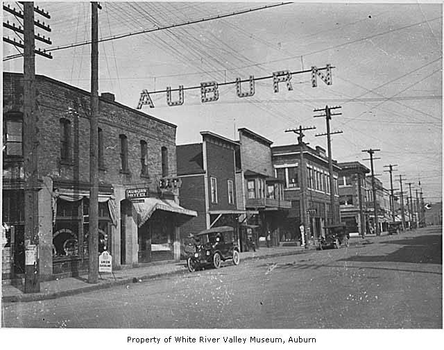 Main Street With Auburn Auto Supply Company And Auburn Ho
