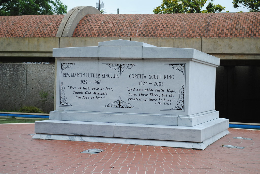 Martin Luther King And Coretta Scott King Grave Detail Flickr