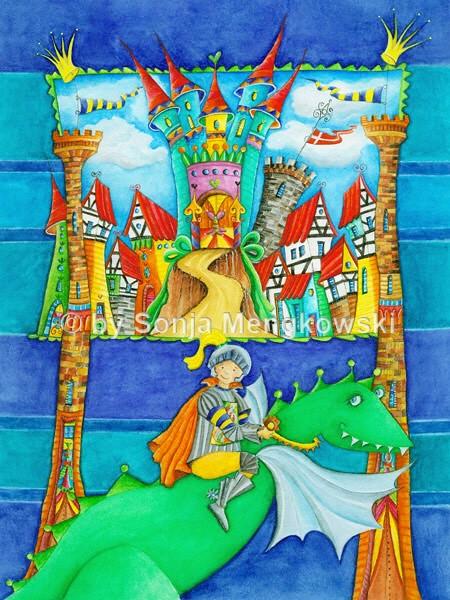 Kunst für Kinder Motiv: Ritterstadt  FINE ART- Kunstdruck, …  Flickr