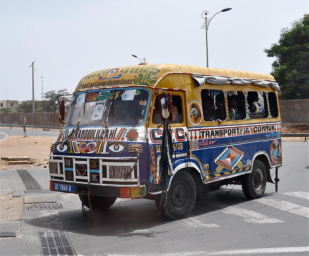 The african bus | Gotta love those buses So colorful