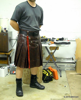 Leather Kilt - Burgundy | by alt_kilt