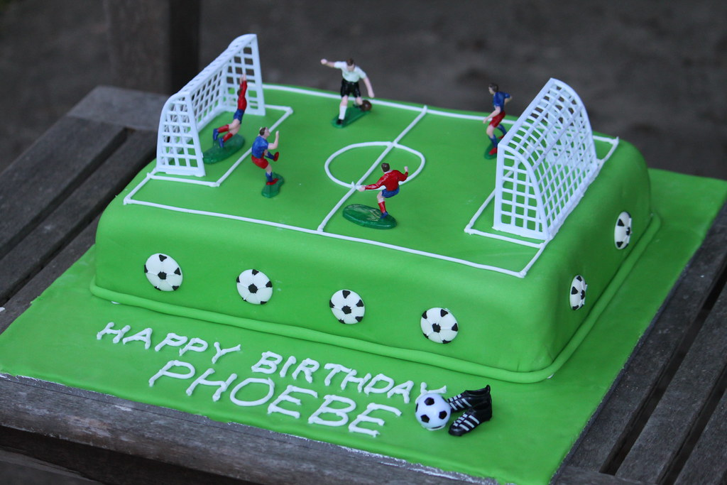 Soccer Pitch Birthday Cake My Daughter Wanted A Soccer Cak Flickr