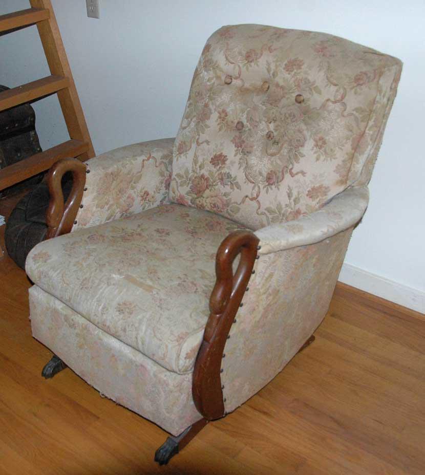 64 Gooseneck Rocker The Chair Needs Upholstering