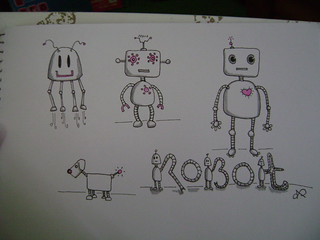 Robot Doodles | by DIY Sara