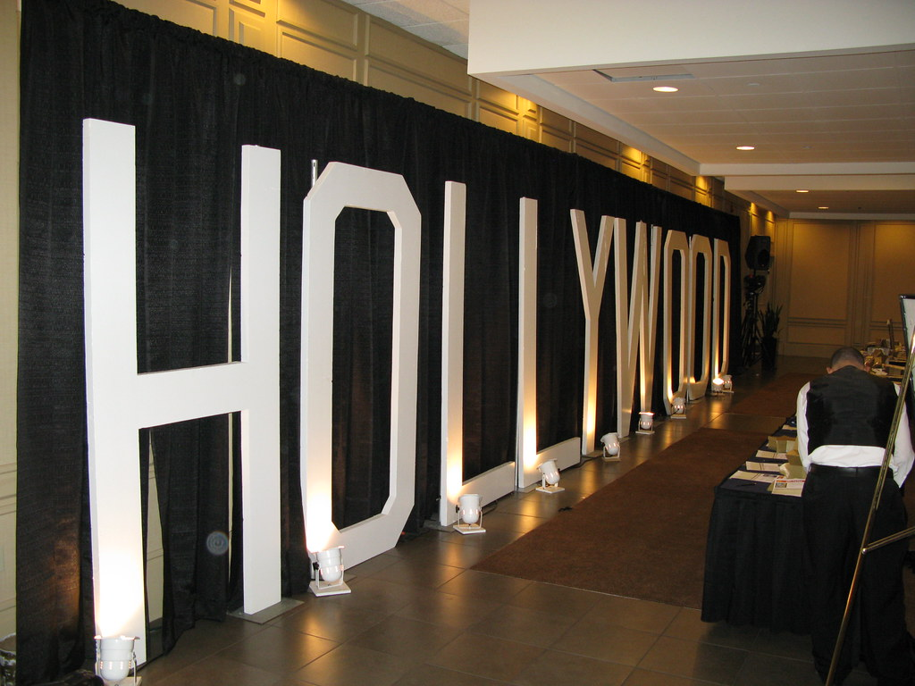 Giant Hollywood Letters For Ymca Fund Raiser At Crowne Pla